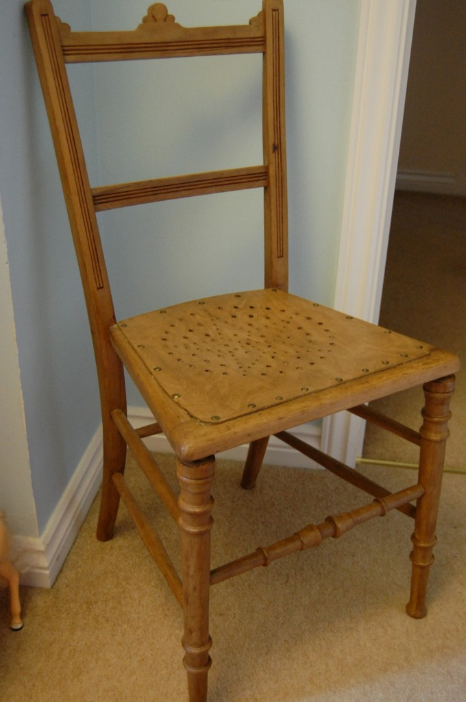 One salvaged chair, cleaned up beautifully